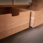 Dovetailed solid oak drawers with soft-close runners