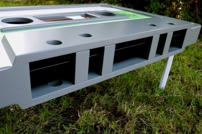 Front detail of cassette table