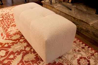 Bespoke stool to match sofa