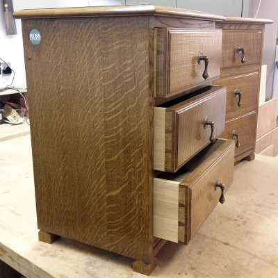 Oak bedside units ready for delivery