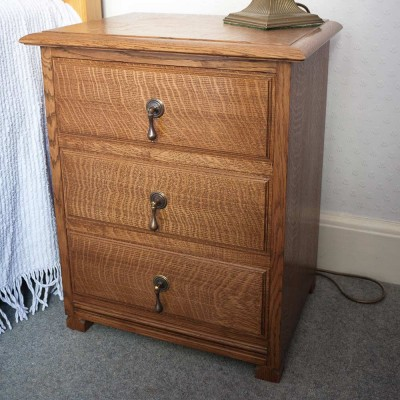 Oak bedside unit