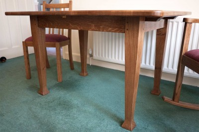 Quarter sawn oak table